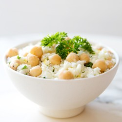 Cauliflower Couscous with Preserved Lemons Chickpeas and Parsley Recipe