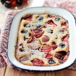 Cherry Clafoutis with Strawberries