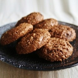 Chewy, Chocolate Almond Cookies