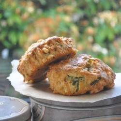 Chive and Cheddar Scones