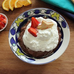 Chocolate Pudding with Strawberries Recipe