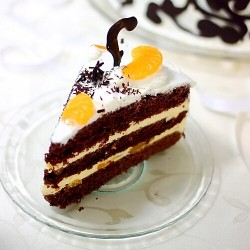Chocolate-Tangerine Cake