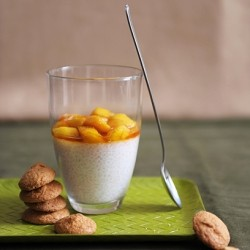 Coconut Cream Tapioca with Caramelized Mango