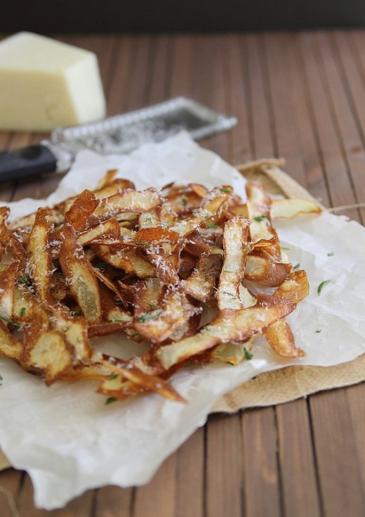 Crispy Potato Strips with Rosemary and Parmesan Recipe