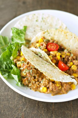 Crockpot Cheesy Beef Tacos