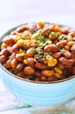 Crockpot Honey BBQ Baked Beans