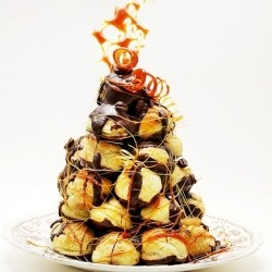 Croquembouche with Coffee Pastry Cream