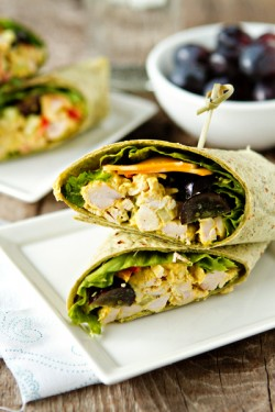 Curried Chicken Salad Wraps
