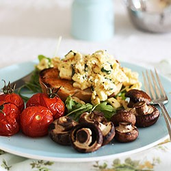 Feta, Chilli and Herb Scrambled Egg