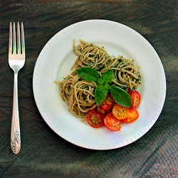 Fresh Pesto with Roasted Tomatoes