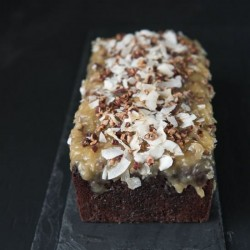 German Chocolate Chocolate Tea Cake