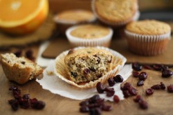 Gluten Free Cranberry Orange Muffin