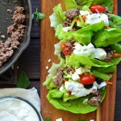 Greek Lettuce Wraps