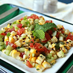 Grilled Corn and Vegetable Salad