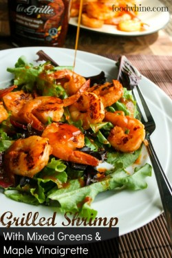 Grilled Shrimp with Mixed Greens