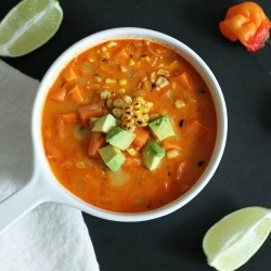 Habanero Charred Corn Sweet Potato Chowder
