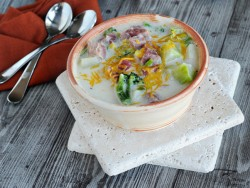 Ham Corn and Potato Soup