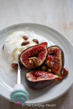 Honey roasted figs with labneh