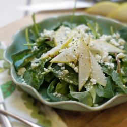 Kale Pear Feta Salad with Lemon Dressing Recipe