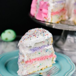 3-Layer Angel Food Cake with Peeps