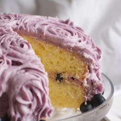 Lemon Blueberry Cream Cheese Layer Cake Recipe