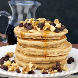 Low-Fat Whole Wheat Pancakes Recipe