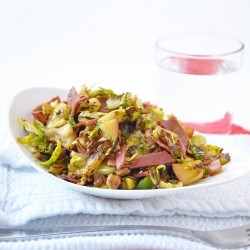 Maple Glazed Sprout Salad Recipe