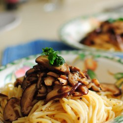 Mushrooms Aglio Olio Pasta Recipe