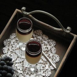 Panna Cotta with Grape Jelly