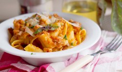 Pappardelle with smoked trout