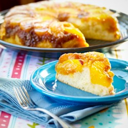 Peach Cobbler Upside Down Cake