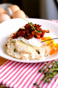 Poached Egg over Herb Parm Polenta
