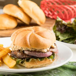 Portobello Burgers with Rosemary-White Bean Spread