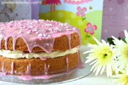 Pretty Pink Birthday Cake