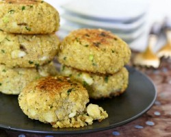 Quinoa Chive Fish Cakes Recipe