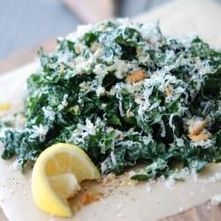 Raw Tuscan Kale Salad with Chiles and Pecorino