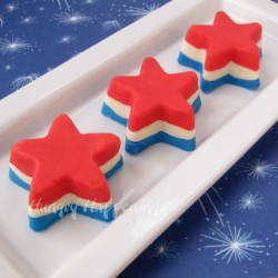 Red White Blue Fudge Stars Recipe