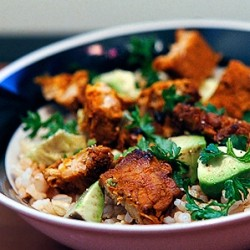 Rice Salad with Marinated Tempeh