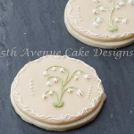 Royal Icing Lilies on a Sugar Cookies