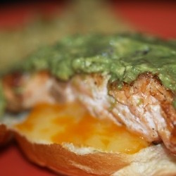 Salmon Grilled Cheese Sandwich