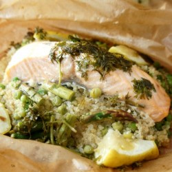 Salmon, Quinoa and Herb Parcels