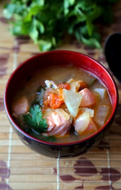 Salmon sinigang –Filipino sour soup