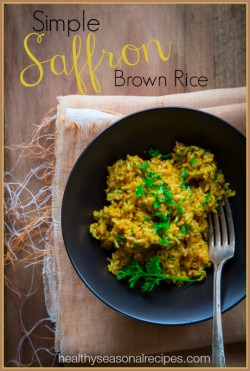 Simple Saffron Brown Rice