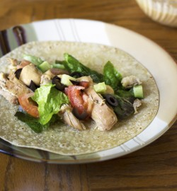 Slow Cooker Greek Chicken Wrap