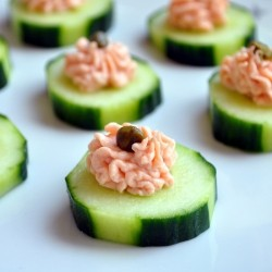 Smoked Salmon Mousse Canapes