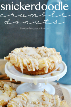 Snickerdoodle Crumble Donuts