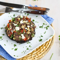 Southwestern Stuffed Portobello Mushrooms with Cumin Black Beans Recipe