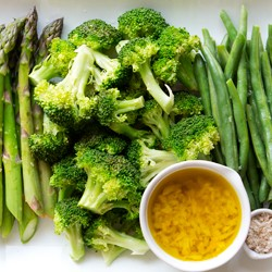 Steamed and Chilled Vegetables with Lemon Oil Recipe
