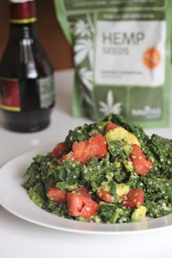 Steamed Kale and Avocado Salad