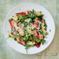 Summer Strawberry Salad with Maple Balsamic Dressing
